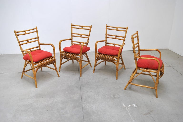 Midcentury Italian Chairs in Bambù, 1960s In Good Condition In bari, IT