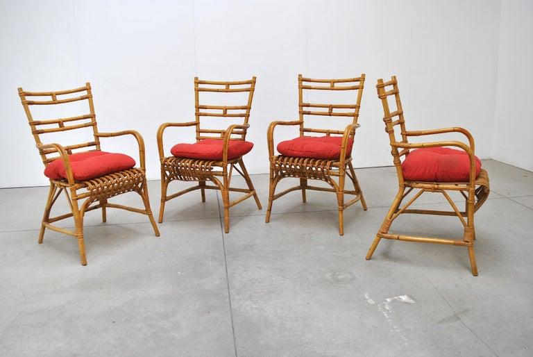 Mid-20th Century Midcentury Italian Chairs in Bambù, 1960s