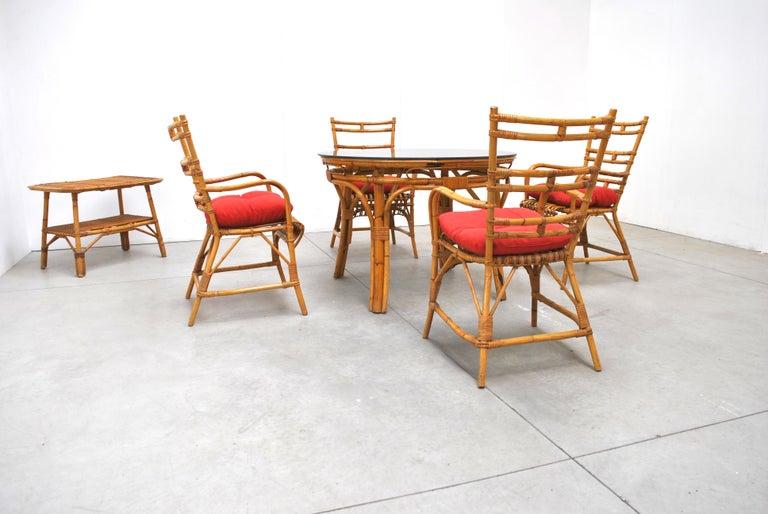 Midcentury Italian Chairs in Bambù, 1960s 3