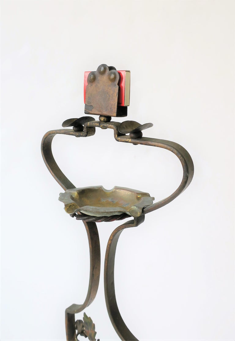 20th Century Midcentury Italian Cigarette and Matchbook Ashtray Stand For Sale