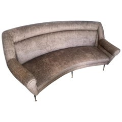Midcentury Italian Curved Sofa in the style of Gio Ponti, circa 1958