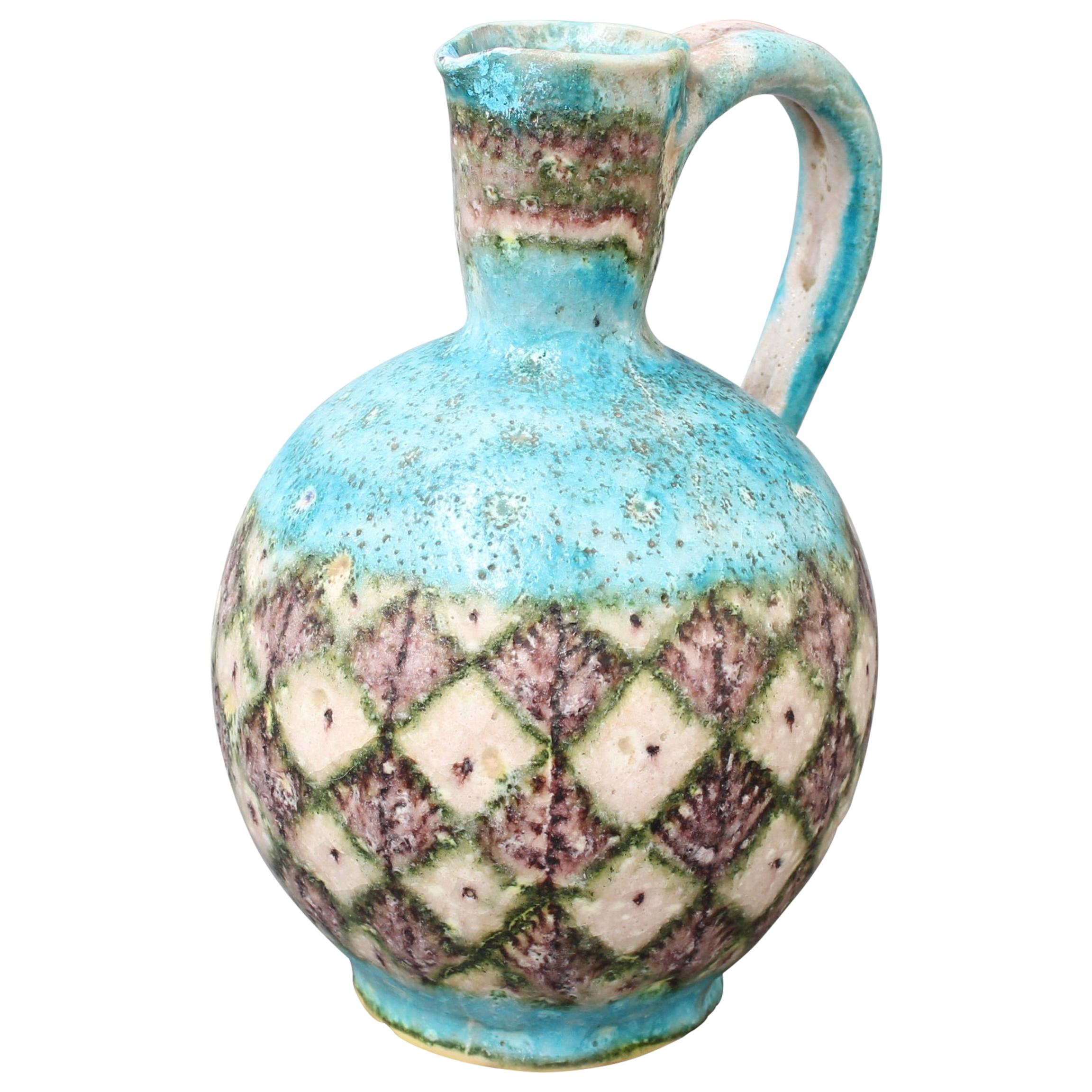 Midcentury Italian Decorative Ceramic Jug by Guido Gambone, circa 1950s