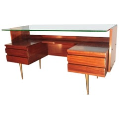 Midcentury Italian Desk in the Stye of Gio Ponti