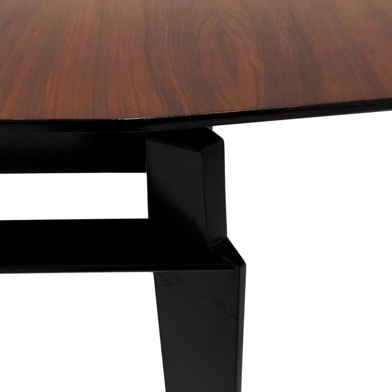 Midcentury Italian Extendable Rosewood Dining Table by Vittorio Dassi For Sale 1