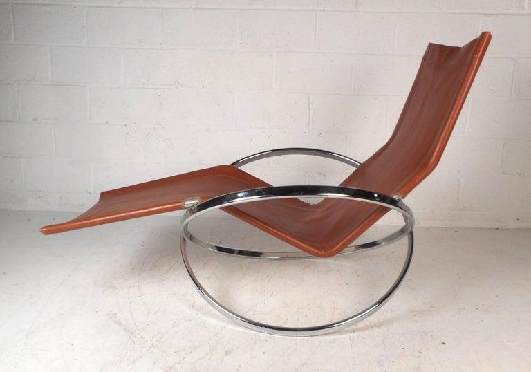 Mid-Century Modern Midcentury Italian Folding Chaise Lounge Rocker