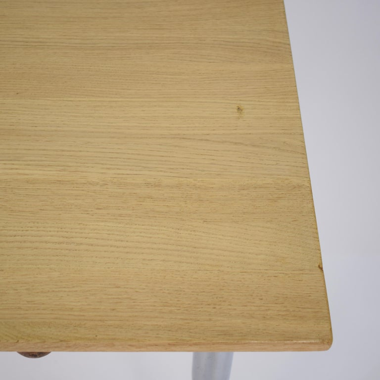 Midcentury Italian Formica Kitchen Pasta Table with Tapered Chrome Legs, 1950 For Sale 9