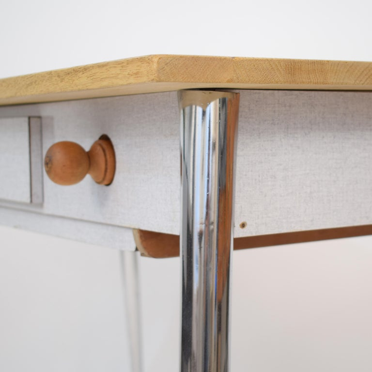 Midcentury Italian Formica Kitchen Pasta Table with Tapered Chrome Legs, 1950 For Sale 11