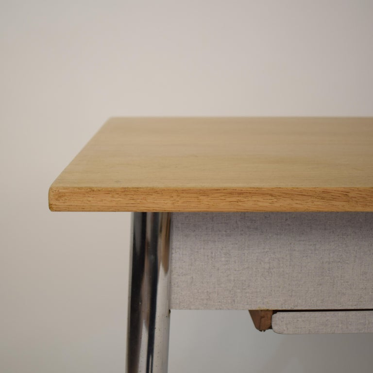 Midcentury Italian Formica Kitchen Pasta Table with Tapered Chrome Legs, 1950 For Sale 5
