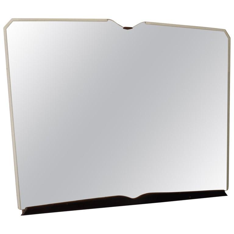 Midcentury Italian Frameless Mirror in Original Condition, circa 1950 For Sale