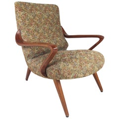 Midcentury Italian Lounge Chair in the Style of Paolo Buffa