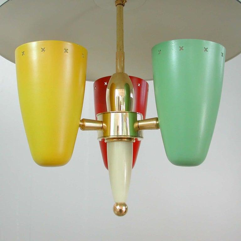 Midcentury Italian Multi-Color Chandelier, 1950s For Sale 3