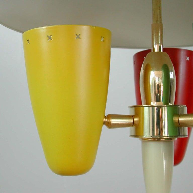 Midcentury Italian Multi-Color Chandelier, 1950s For Sale 2
