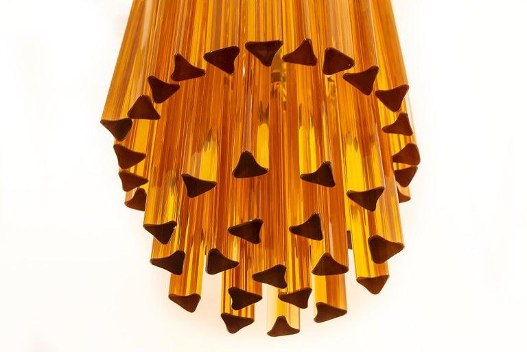 Midcentury Italian Murano Glass Chandelier by Venini, circa 1970 In Good Condition For Sale In Vilnius, LT