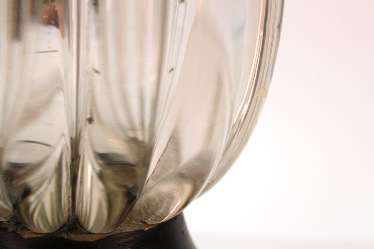 Midcentury Italian Murano Glass Table Lamp For Sale 6