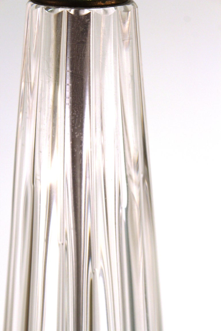 Midcentury Italian Murano Glass Table Lamp For Sale 7