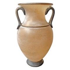 Midcentury Italian Murano Scavo Amphora Vase
