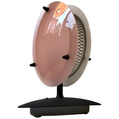 Midcentury Italian Pink and White Lucite Table Lamp, 1960s