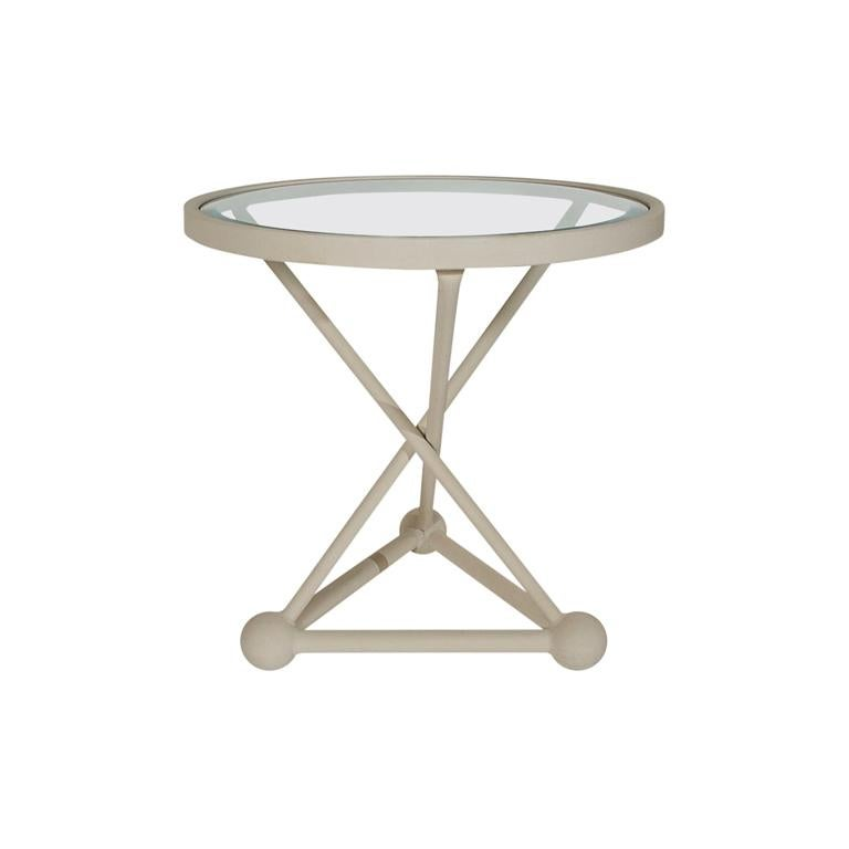 Midcentury Italian Postmodern White and Glass End or Side Table after Sottsass