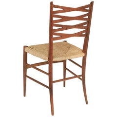 Midcentury Italian Rush Seat Chair