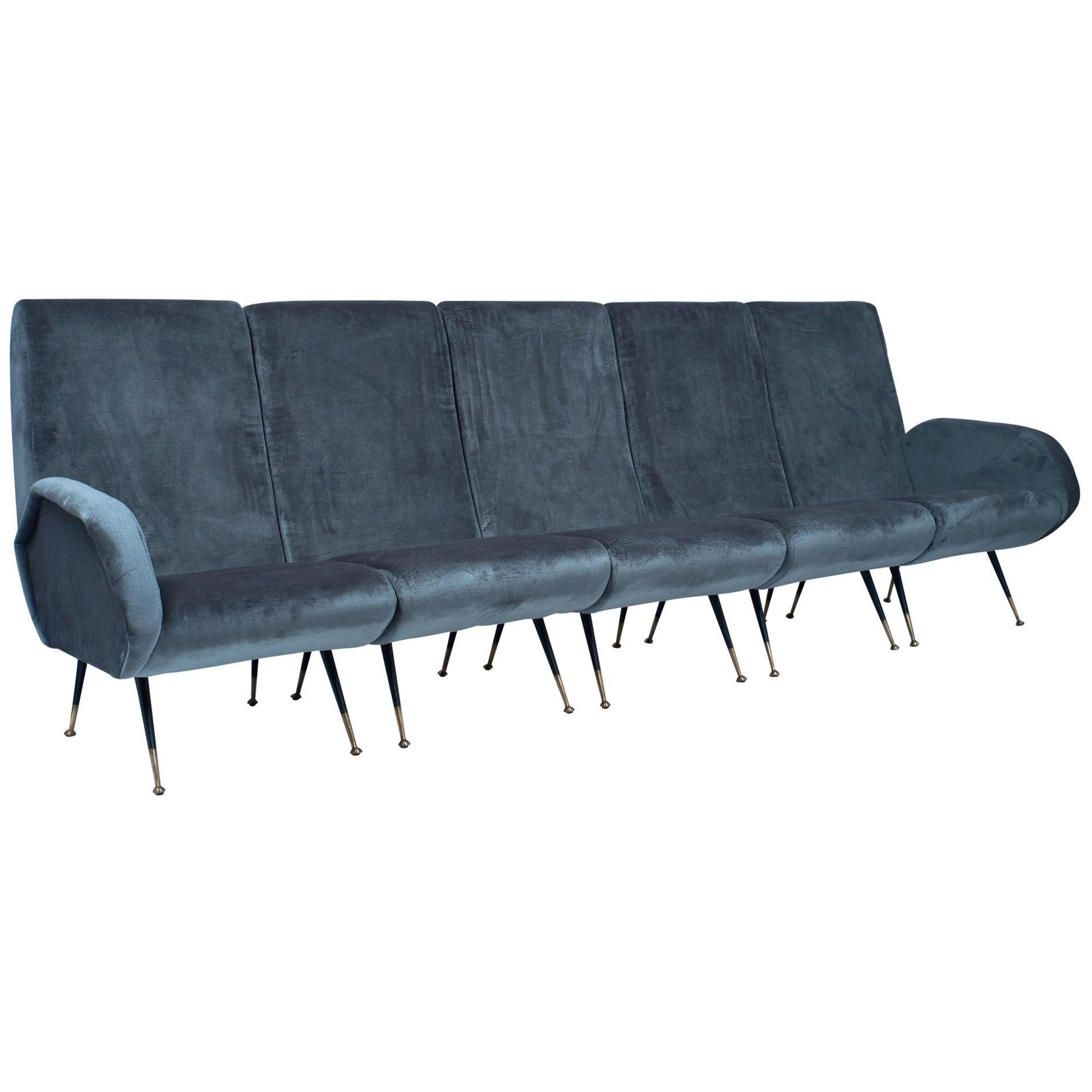 Danish Design Sofa Leather Vintage Midcentury For Sale at 1stdibs
