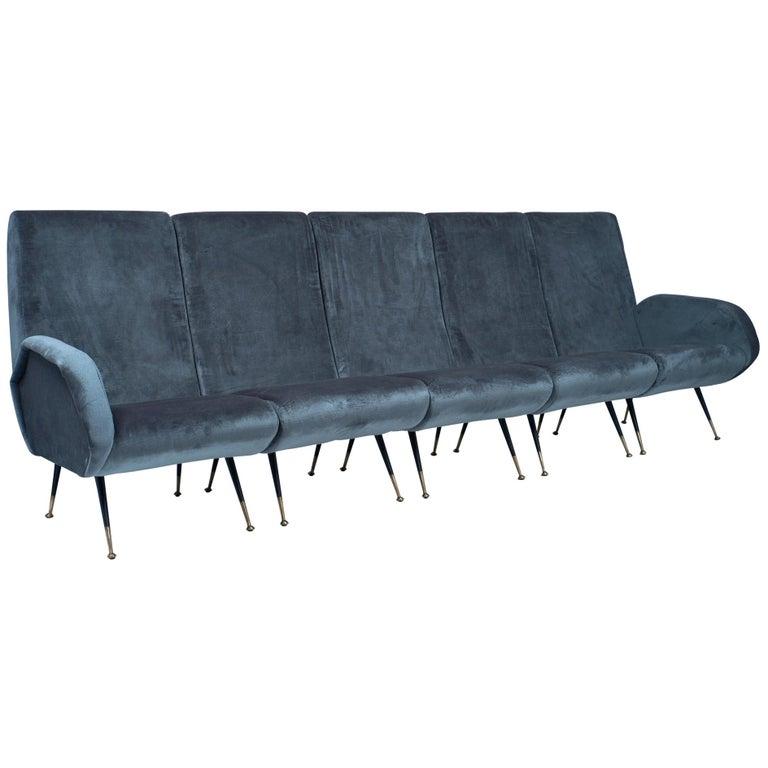 Midcentury Italian Sectional Sofa For Sale