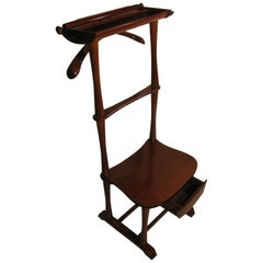 Midcentury Italian SPQR Clothes Valet with Seat and Drawer