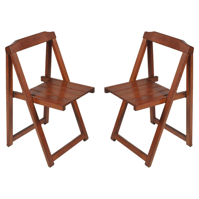 Sedie Pieghevoli Calligaris Design.Midcentury Italian Sturdy Folding Chairs By Calligaris In Solid