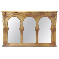 Midcentury Italian Triple Landscape Mirror