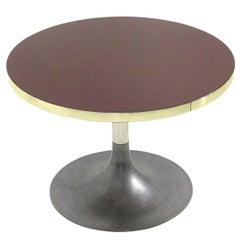 Midcentury Italian Tulip Coffee Table with Circular Top, 1960s