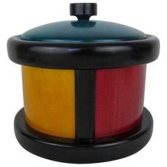 Midcentury Italian Vietri Woodenware Ice Bucket by Pietro Manzoni