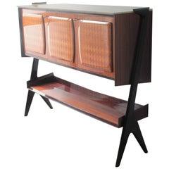 Midcentury Italian Vittorio Dassi Dry Bar Cabinet