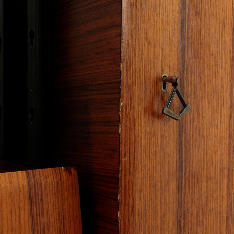 Mid-20th Century Midcentury Italian Wall Unit Whit Bar Cabinet, 1960s For Sale