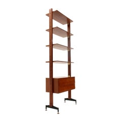 Midcentury Italian Wall Unit with Drawers and Shelves, 1950s