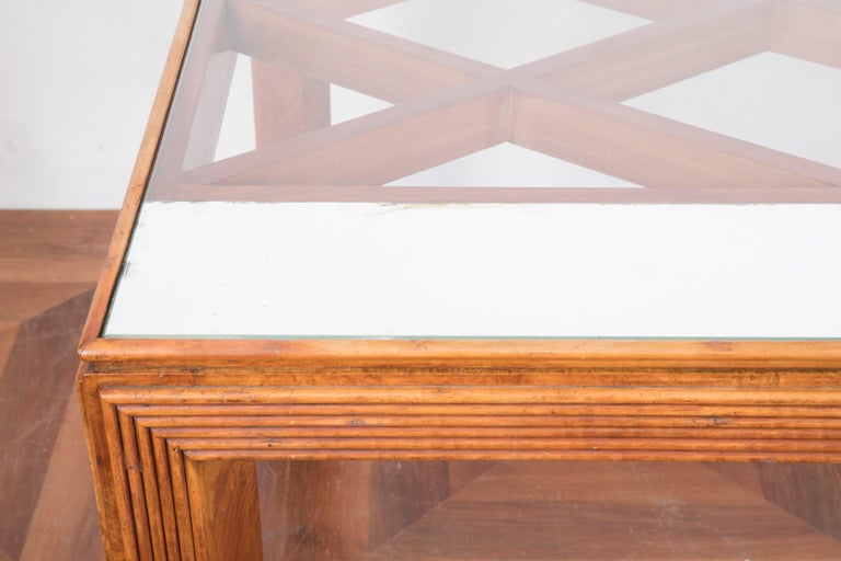 Mid-Century Modern Midcentury Italian Walnut Wood Dining Table Attributed to Paolo Buffa, 1940s For Sale
