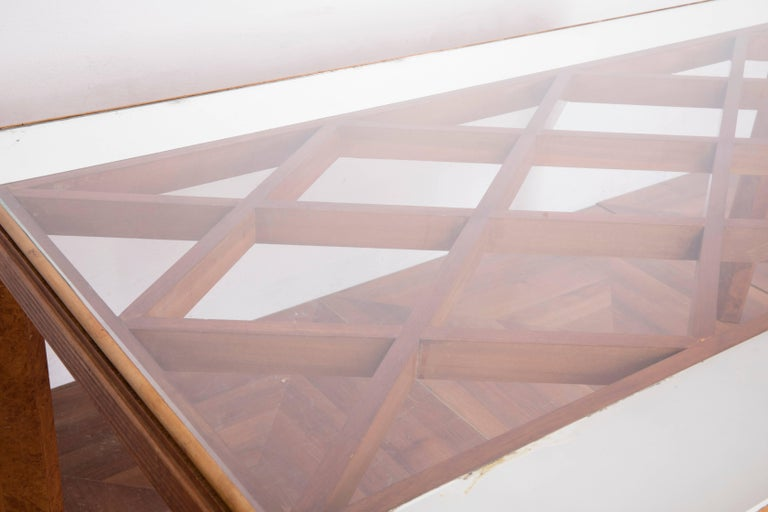 Midcentury Italian Walnut Wood Dining Table Attributed to Paolo Buffa, 1940s In Good Condition For Sale In Firenze, IT