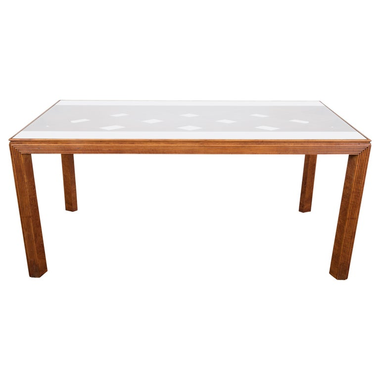 Midcentury Italian Walnut Wood Dining Table Attributed to Paolo Buffa, 1940s For Sale