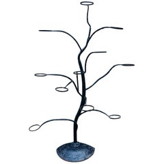 Mid Century Italian Wrought iron Sculptural Tree Planter, circa 1950