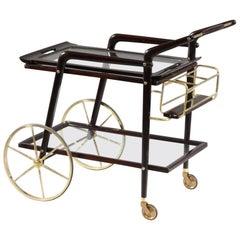 Midcentury Italian Bar Trolley Designed Cesare Lacca