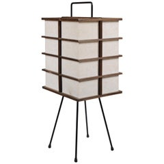 Midcentury Japanese Paper Lantern Table Lamp