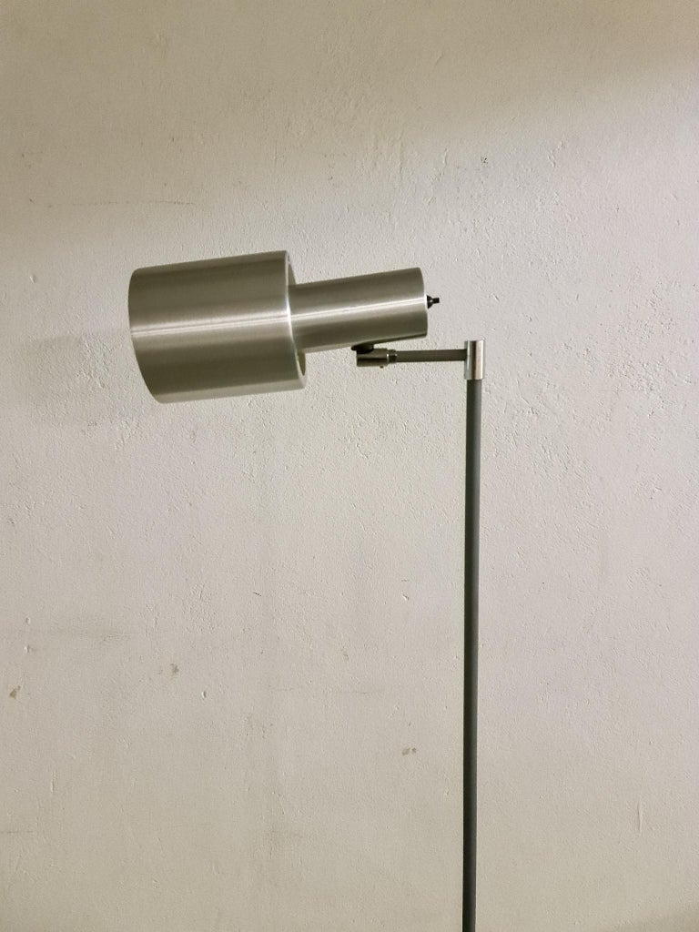 Mid-20th Century Midcentury Jo Hammerborg Aluminium 'Studio' Floor Lamp for Fog & Mørup, 1960s For Sale