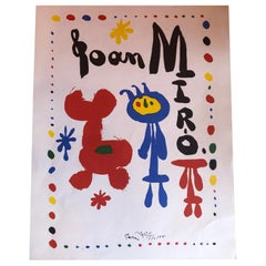 Midcentury Joan Miro Lithograph Art Poster