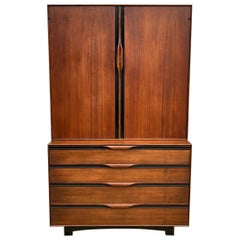 Midcentury John Kapel for Glenn of California Tall Dresser Wardrobe
