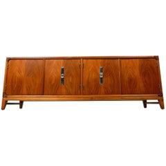 Mid Century John Keal Design for Brown-Saltman Low Credenza Cabinet