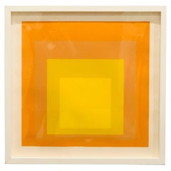 Midcentury Josef Albers Silkscreen Interaction of Color, Homage to the Square