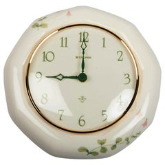 Midcentury Junghans Porcelain Wall Clock by Rorstrand