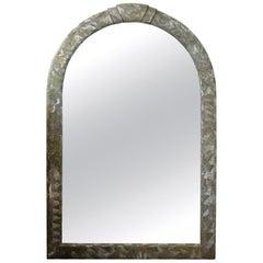 Midcentury Karl Springer Inspired Abalone Mirror
