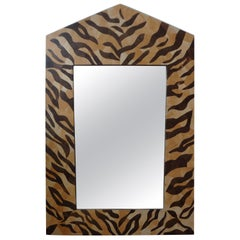 Midcentury Karl Springer Inspired Neoclassical Style Coconut Shell Mirror