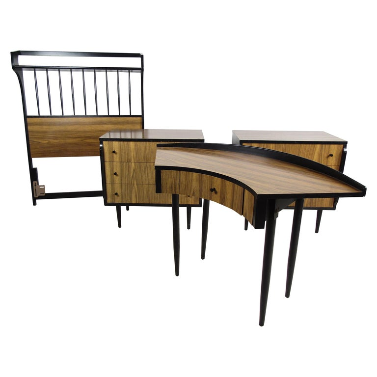 Midcentury Kent Coffey Teakway Bedroom Suite For Sale