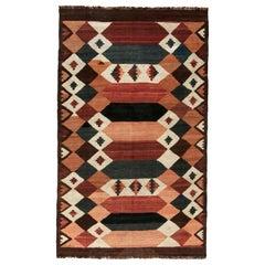 Midcentury Kilim Etno Labijar Handmade Wool Rug