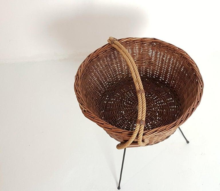 Mid-Century Modern Midcentury Knitting Basket, Italy